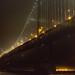 Bay Bridge lights in the fog by Schill