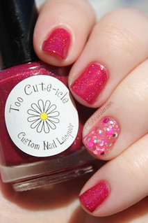 Too Cute-icle Hibiscus with Blue Eyed Girl Lacquer Is That A Technical Term, Jiggery Pokery? | by ThePolishMonster