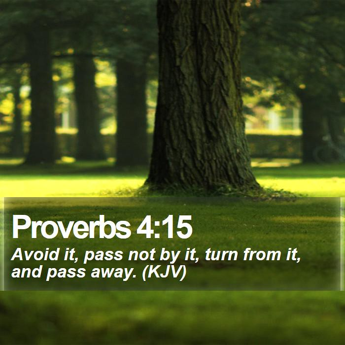 Daily Bible Verse - Proverbs 4:15 | Proverbs 4:15 Avoid it, … | Flickr