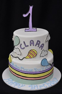 Tremendous Oh The Places Youll Go Birthday Cake Jenny Wenny Flickr Funny Birthday Cards Online Hetedamsfinfo