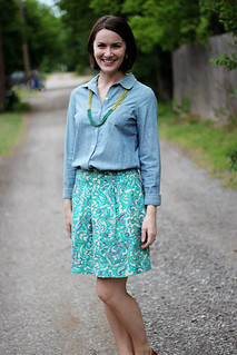 paisley-skirt-chambray-2 | by thecreamtomycoffee