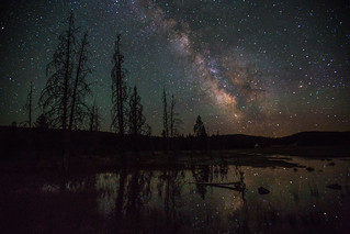 Pond and Milky Way, Firehole Lake Drive | by Neal Herbert