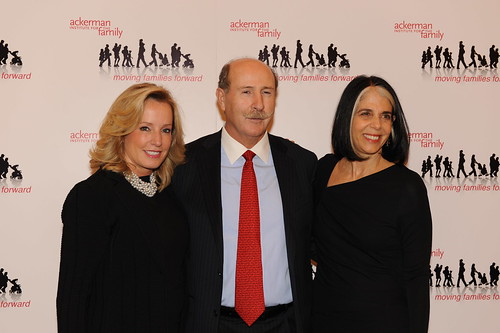 Gala Co-Chair Martha Fling, Board Chair John O'Neill and Ackerman Institute President Lois Braverman | by Moving Families Forward
