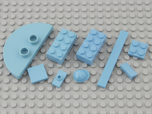 11 Pastel Blue / Maersk Blue | by Brick Colorstream