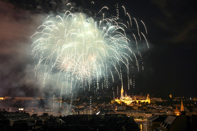 Fireworks Show in Budapest on St. Stephen's Day 2014 August 20. - 7