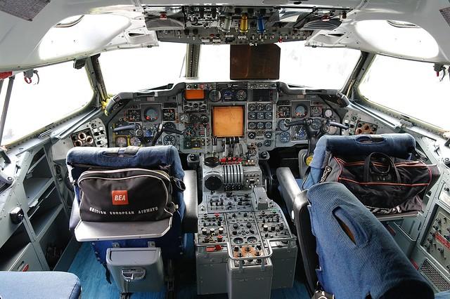 BEA Trident 2E Cockpit