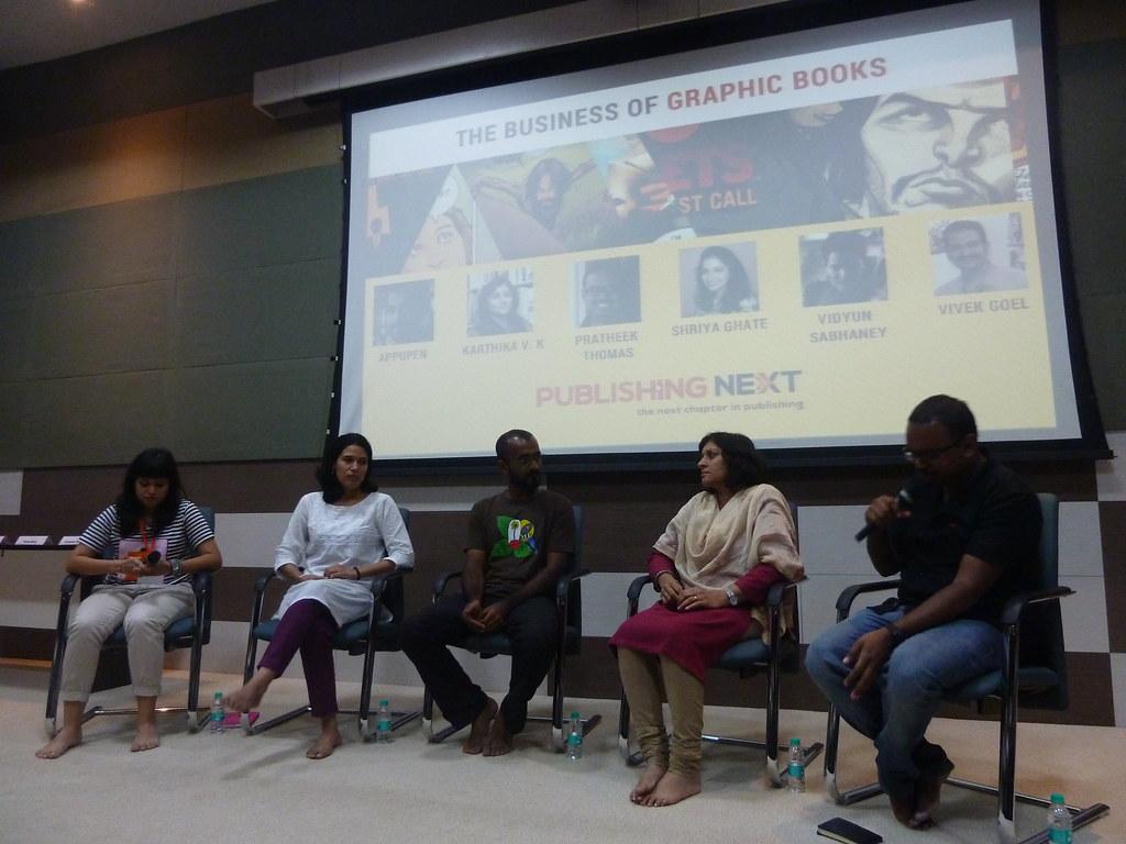 LtoR: Shriya Ghate (editor, Tinkle Digest), Vidyun Sabhane