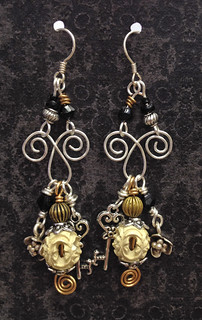 carved bead mixed metals