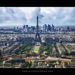 The Iconic Eiffel Tower & The Densely Beautiful City Of Paris, France :: HDR