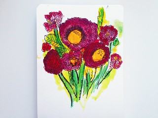 Watercolor As Inspired by Alisa Burke | by Tamara Hala