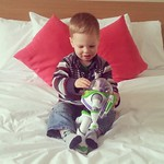 George with his new friend, Buzz Lightyear :-)