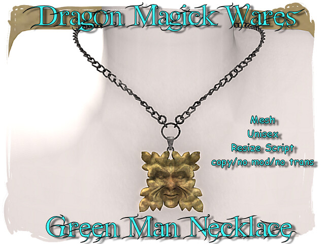 Dragon Magick Wares Green Man Necklace
