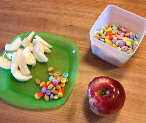 apples and trail mix