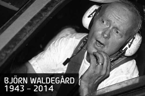 Sweden Drive BJÖRN WALDEGÅRD, THE FIRST MAN TO WIN THE WORLD CHAMPIONSHIP FOR DRIVERS' IN 1979, HAS DIED. HE WAS 70.