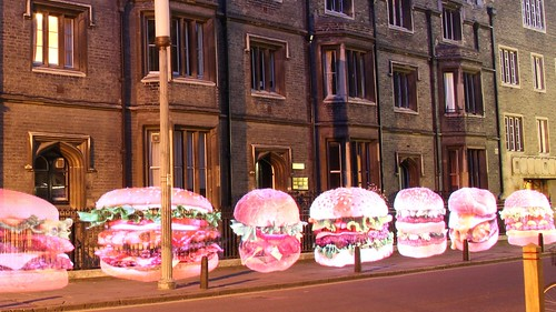 Light Painted Burgers in Trumpington Street