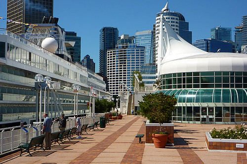 Celebrity Cruises cruise ship at Canada Place, Vancouver, British Columbia