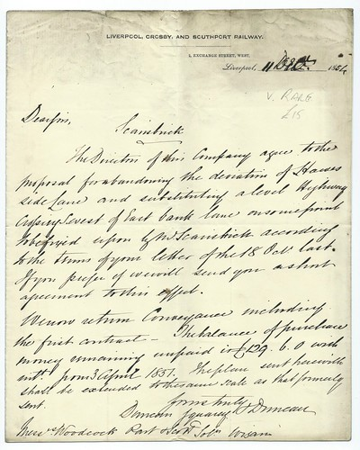 Liverpool, Crosby and Southport Railway letterhead 1854   by ian.dinmore