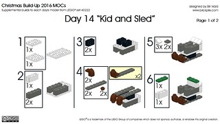 Day 14 Kid and Sled Instr 1 of 2 | by Bill Ward's Brickpile