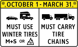 Rural Highway Safety and Speed Review - winter tire advisory | by BC Gov Photos