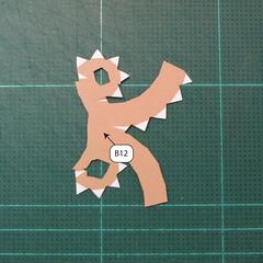 วิธีทำโมเดลกระดาษของเล่นคุกกี้รัน คุกกี้รสพ่อมด (Cookie Run Wizard Cookie Papercraft Model) 018