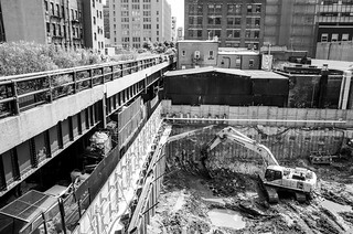 Construction next to the High Line | by Richard-