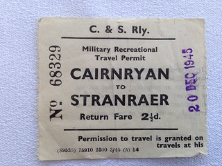 Cairnryan and Stranraer Railway ticket 1945 | by ian.dinmore