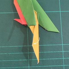 วิธีพับกระดาษเป็นรูปนกแก้ว (Origami Parrot) 034