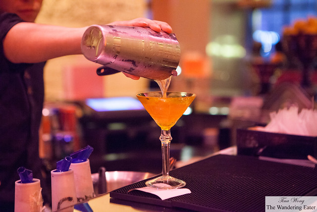 Pouring out a cocktail