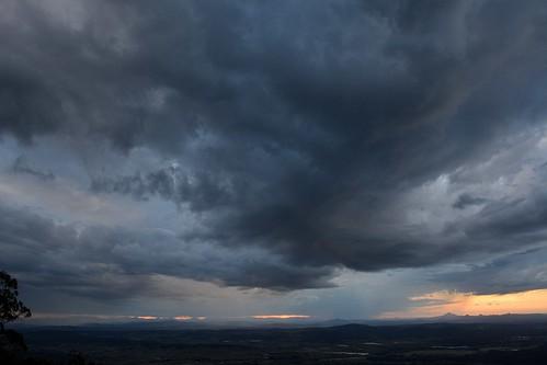 clouds storms cloudscape sunset sundown spring tamborinemountain sequeensland queensland australia view albertvalley loganvalley sunsetlandscape landscape australianlandscape stormscape storm mounttamborine