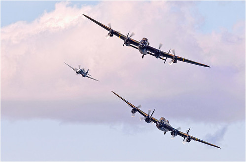 Lancasters and Spitfire