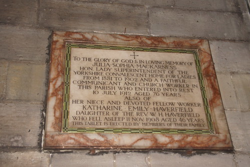 Julia Sophia Mackarness and her niece Katherine Emily Haverfield Memorial - St. Martin's Church, Scarborough | by Bolckow