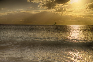 Sunset on Ffreyes Beach, Antigua. | by ronmcmanus1