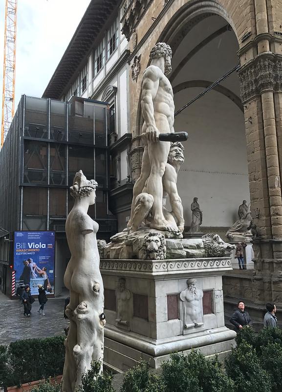 Hercules and Cacus by Baccio Bandinelli, Piazza della Signoria, Florence, Italy.
