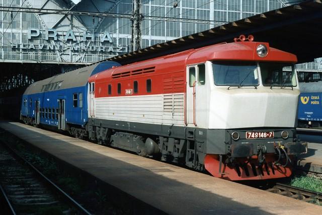 Čd 749 146-7 te Praha hlavní nádraží op 5-5-1995 (SCAN)