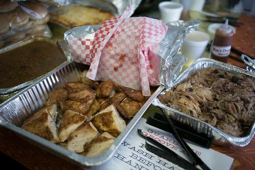 Dinner from Mo's Original Barbecue. Photo by Ken Maldonado.