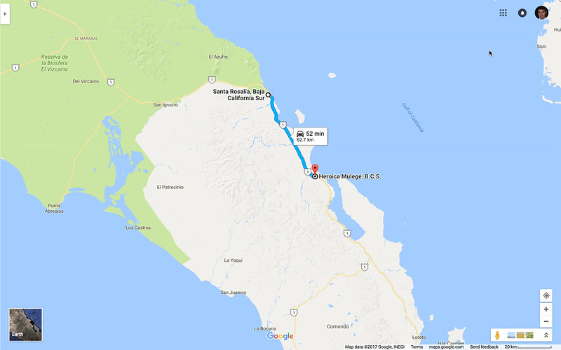 Santa Rosalia to Mulege