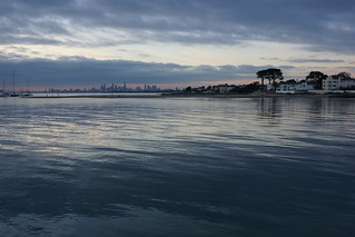 Fading light on the bay, Melbourne   by Joe Lewit