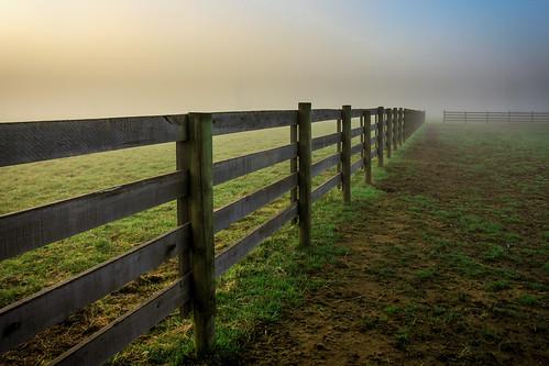 ohio grass fog sunrise canon fence spring mud nelsonville kmsmith