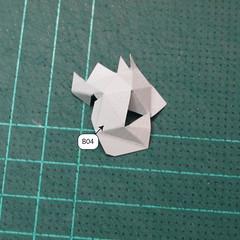 วิธีทำโมเดลกระดาษของเล่นคุกกี้รัน คุกกี้รสพ่อมด (Cookie Run Wizard Cookie Papercraft Model) 004