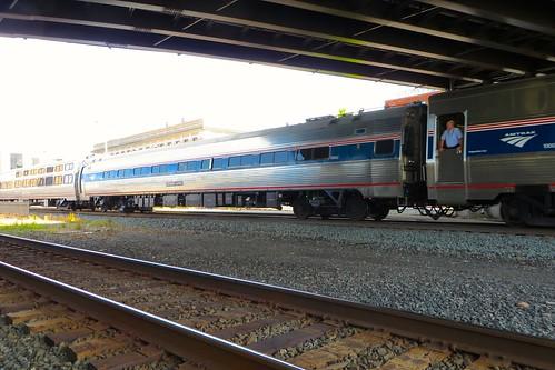 railroad station train rail railway amtrak passenger lakeshorelimited uticany trackinspection uticaunionstation
