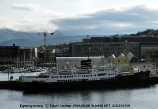 Nordstjernen in Tromsø Havn as hotel ship   by albatrail