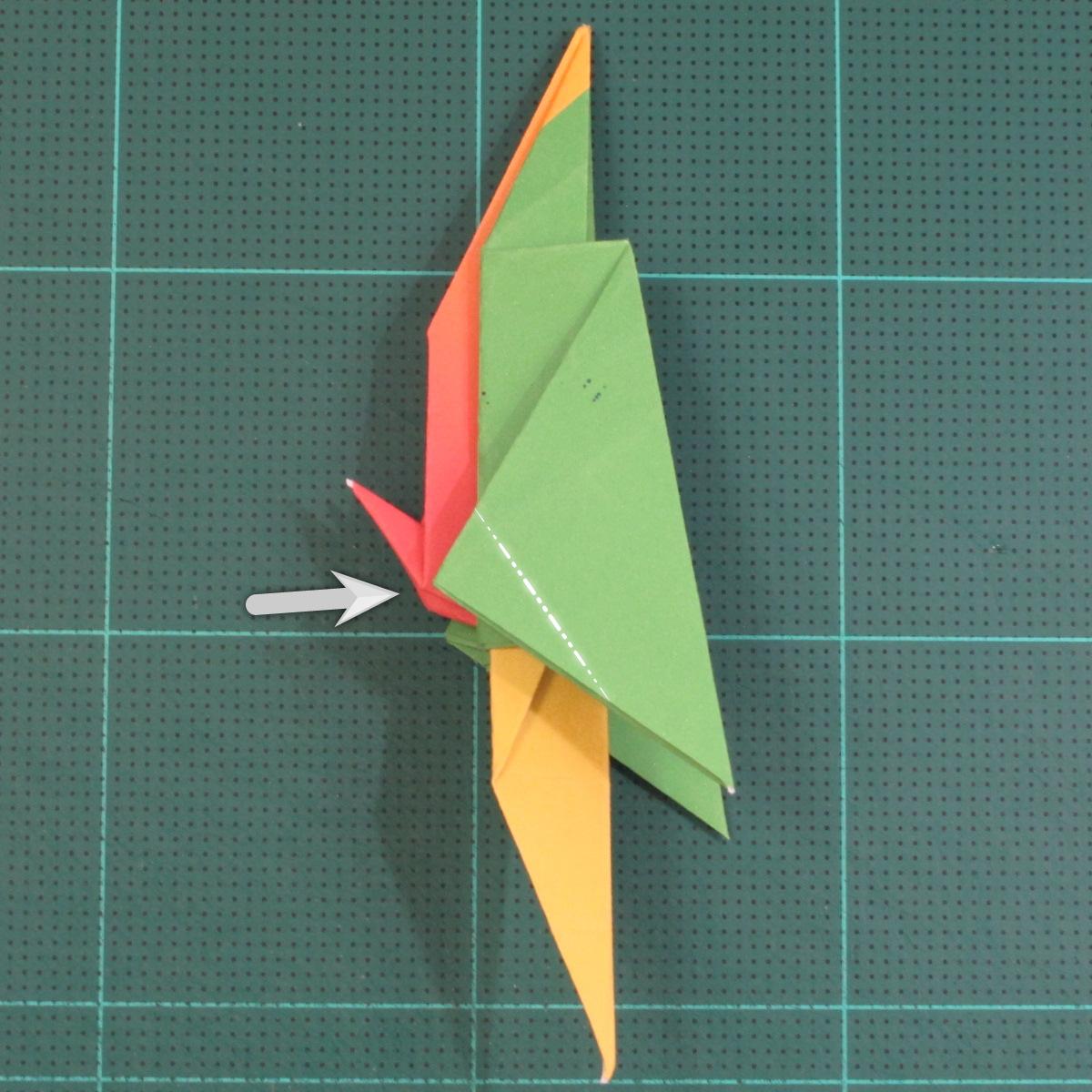วิธีพับกระดาษเป็นรูปนกแก้ว (Origami Parrot) 031