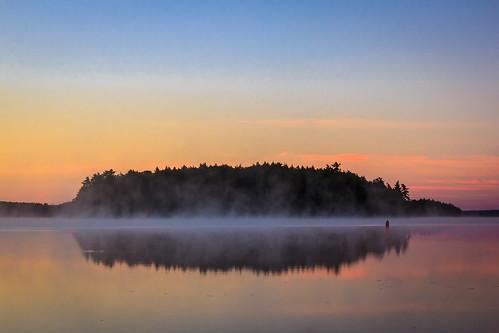 mist fog keji hogisland kejimkujik parkscanada kejimkujiknationalpark canadanationalpark kejimkujiklake
