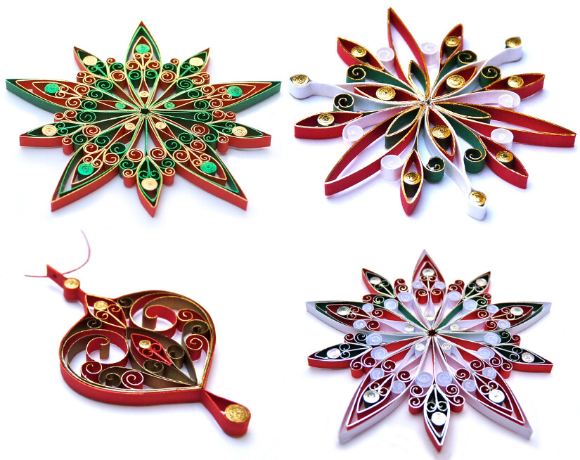 Quilled Christmas Ornaments Created By Victoria Brewer Of Flickr
