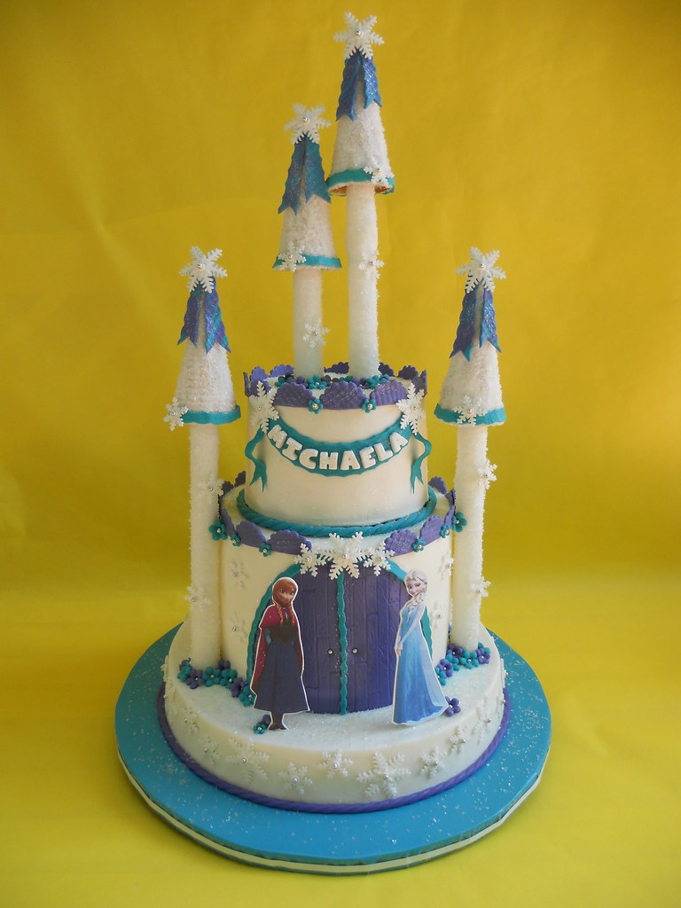Outstanding Frozen Castle Birthday Cake Amy Stella Flickr Funny Birthday Cards Online Overcheapnameinfo