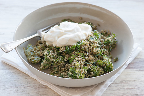 quinoa with broccoli pesto | by jules:stonesoup