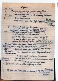 Rory Gallagher  - Handwritten Lyrics