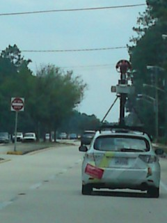 Google Car in St Johns County this car was doing above 60mph in a 45mph zone. Google Brother is watching us all?
