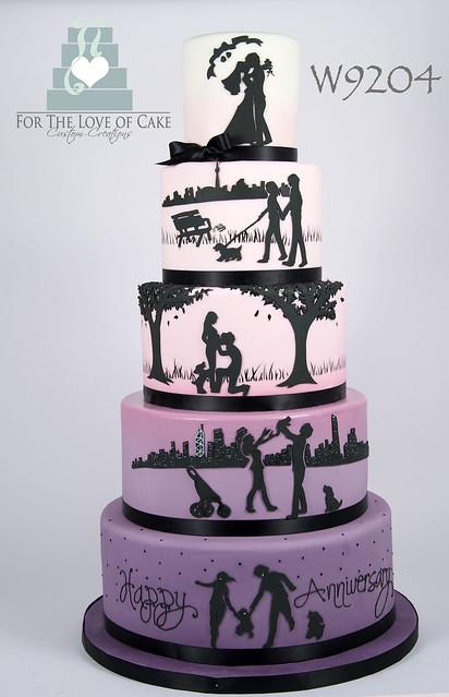 W9204-ombre-gradiant-love-story-anniversary-silhouette-wedding-cake-toronto