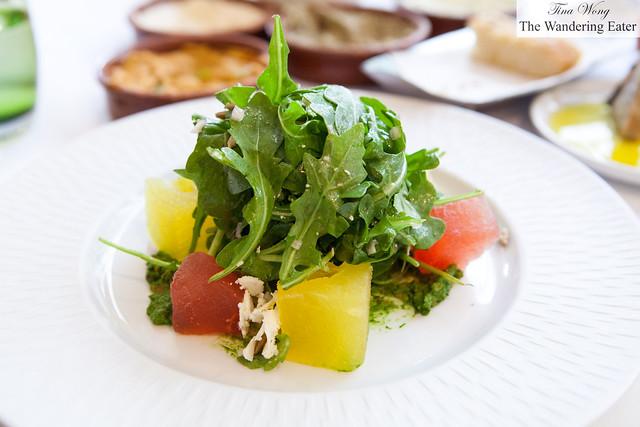 Heirloom watermelon salad